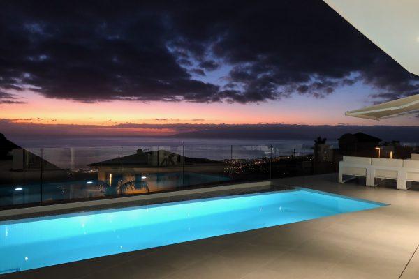 The spectacular sunset-facing minimalist villa